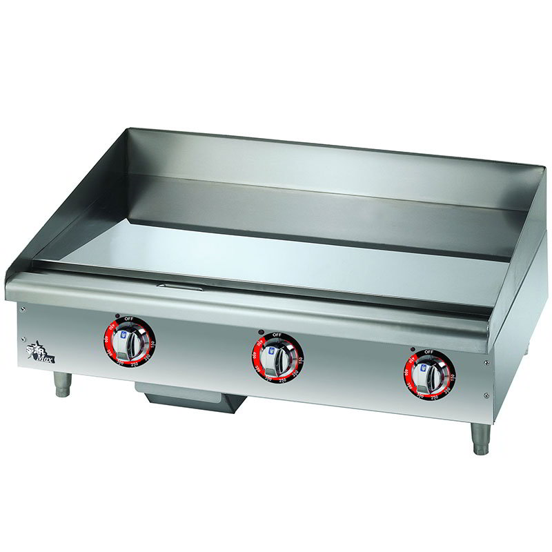 "Star 536CHSF 36"" Electric Griddle - Thermostatic, 1"" Chrome Plate, 208v/3ph"