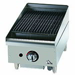 "Star 6015CBF 15"" Gas Charbroiler - Cast Iron Grate, Adjustable Control Valve"