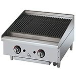 "Star Manufacturing 6024CBF 24"" Gas Charbroiler - Cast Iron Grate, Adjustable Control Valve"