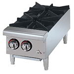"Star Manufacturing 602HF 12"" Hotplate w/ 2-Burners, Aluminized Steel Body, NG"