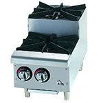 """Star Manufacturing 602HF-SU 12"""" Step Up Hotplate - 2-Burners, Manual Controls, NG"""