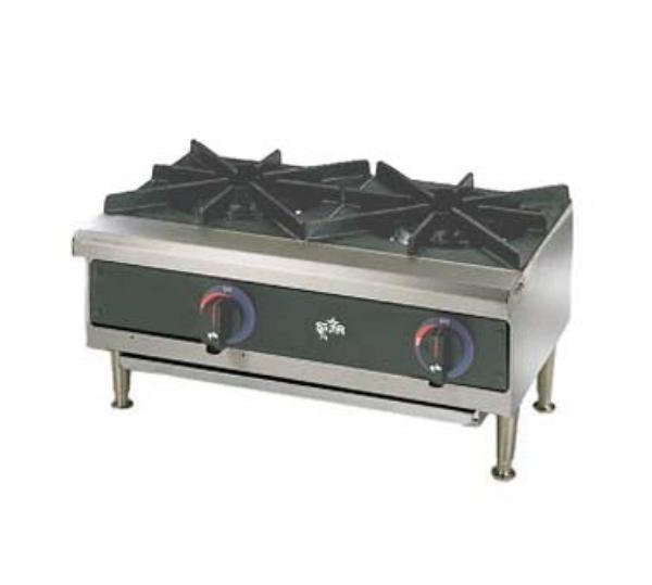 Star 602HWD Star-Max Hotplate Countertop Gas 2 Side by Side Burners Restaurant Supply
