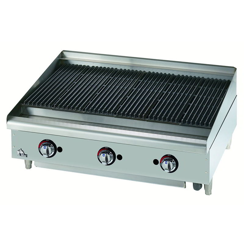 "Star Manufacturing 6036CBF 36"" Charbroiler - Cast Iron Grate, Adjustable Control Valve, NG"
