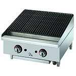 "Star 6124RCBF 24"" Gas Charbroiler - Adjustable Manual Controls"