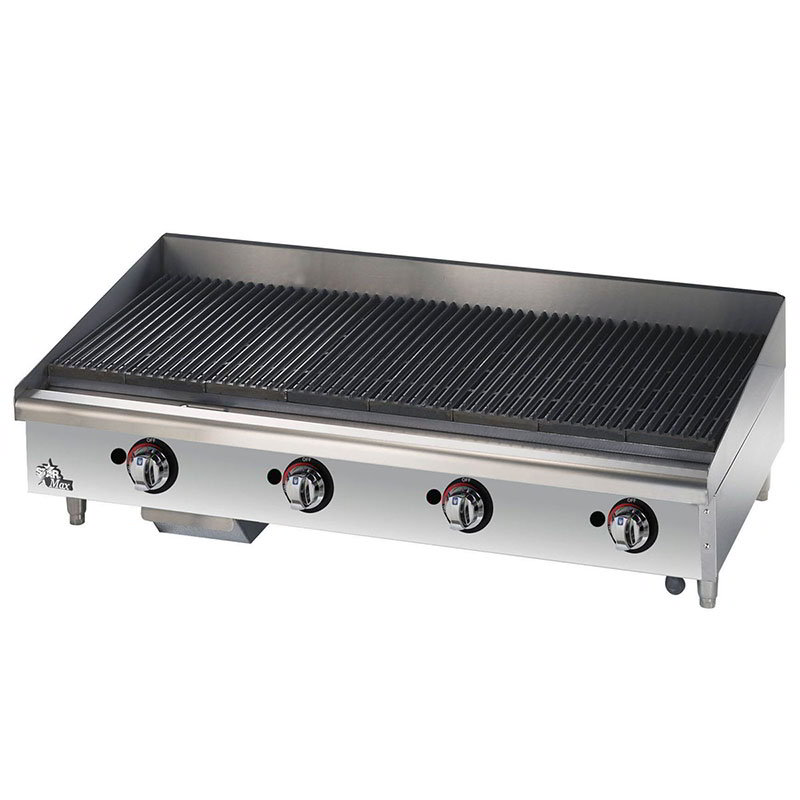 "Star 6148RCBF 48"" Gas Charbroiler - Adjustable Manual Controls"