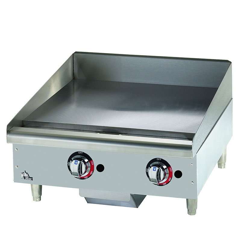 "Star 624MF 24"" Gas Griddle - Manual, 1"" Steel Plate, LP"