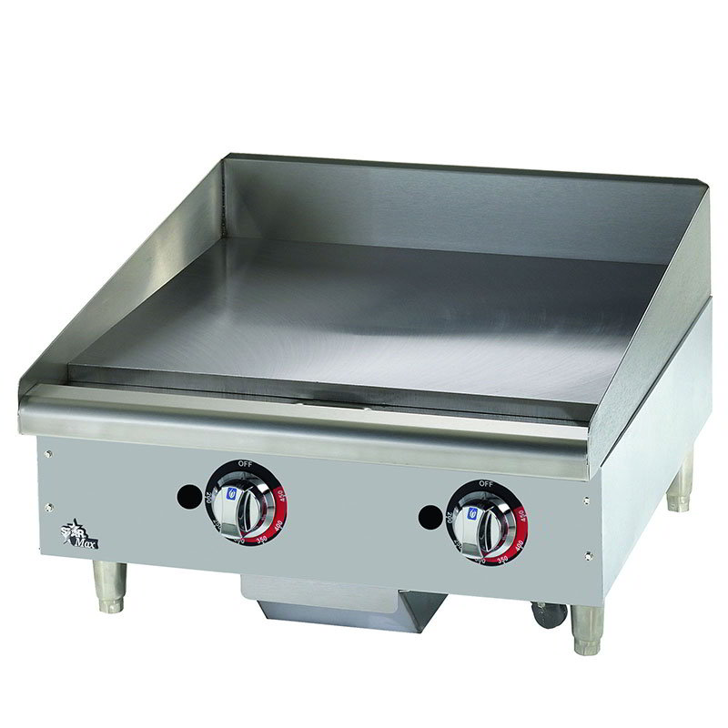 "Star Manufacturing 624TF 24"" Griddle - 1"" Steel Plate, Thermostat Controls, NG"