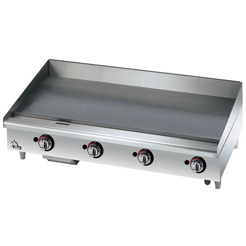 "Star 648TF 48"" Gas Griddle - Thermostatic, 1"" Steel Plate, NG"