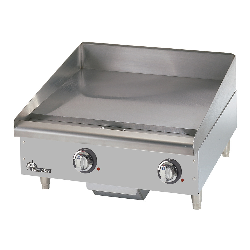 """Star 724TCHSA 24"""" Electric Griddle - Thermostatic, 1"""" Chrome Plate, 208v/1ph"""