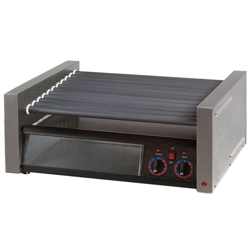 Star 75CBBC120 75 Hot Dog Roller Grill w/Bun Storage - Slanted Top, 120v