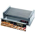 Star 75CBDE240 75 Hot Dog Roller Grill w/Bun Storage - Slanted Top, 240v