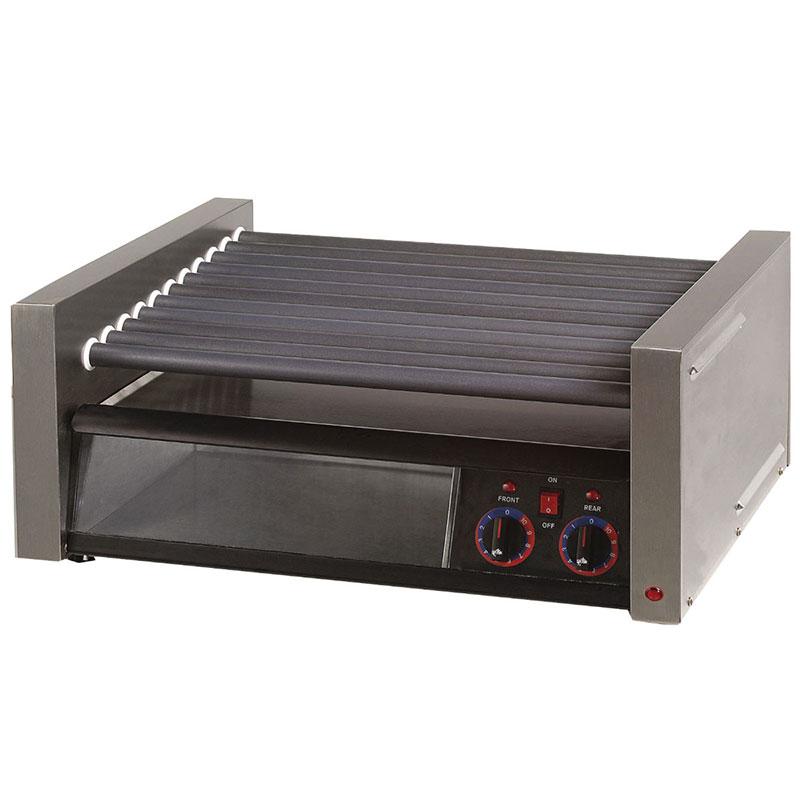Star 75SCBBC240 75 Hot Dog Roller Grill w/Bun Storage - Slanted Top, 240v