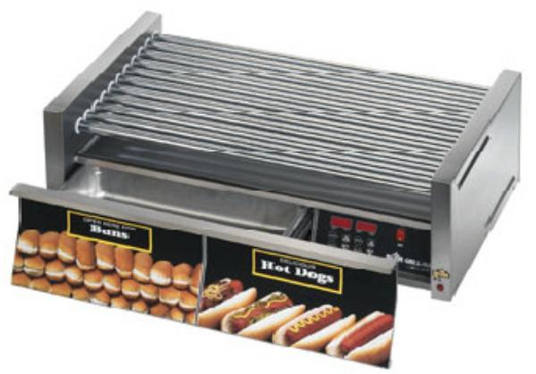 Star 75SCBDE240 Star Grill-Max Pro Hot Dog Grill W/Drawer Duratec Rollers Electronic 240 V Restaurant Supply