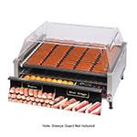 Star 75SCBDE240 75 Hot Dog Roller Grill w/Bun Storage - Slanted Top, 240v