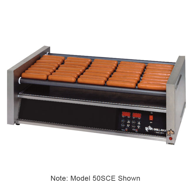 Star 75SCE120 75 Hot Dog Roller Grill - Slanted Top, 120v