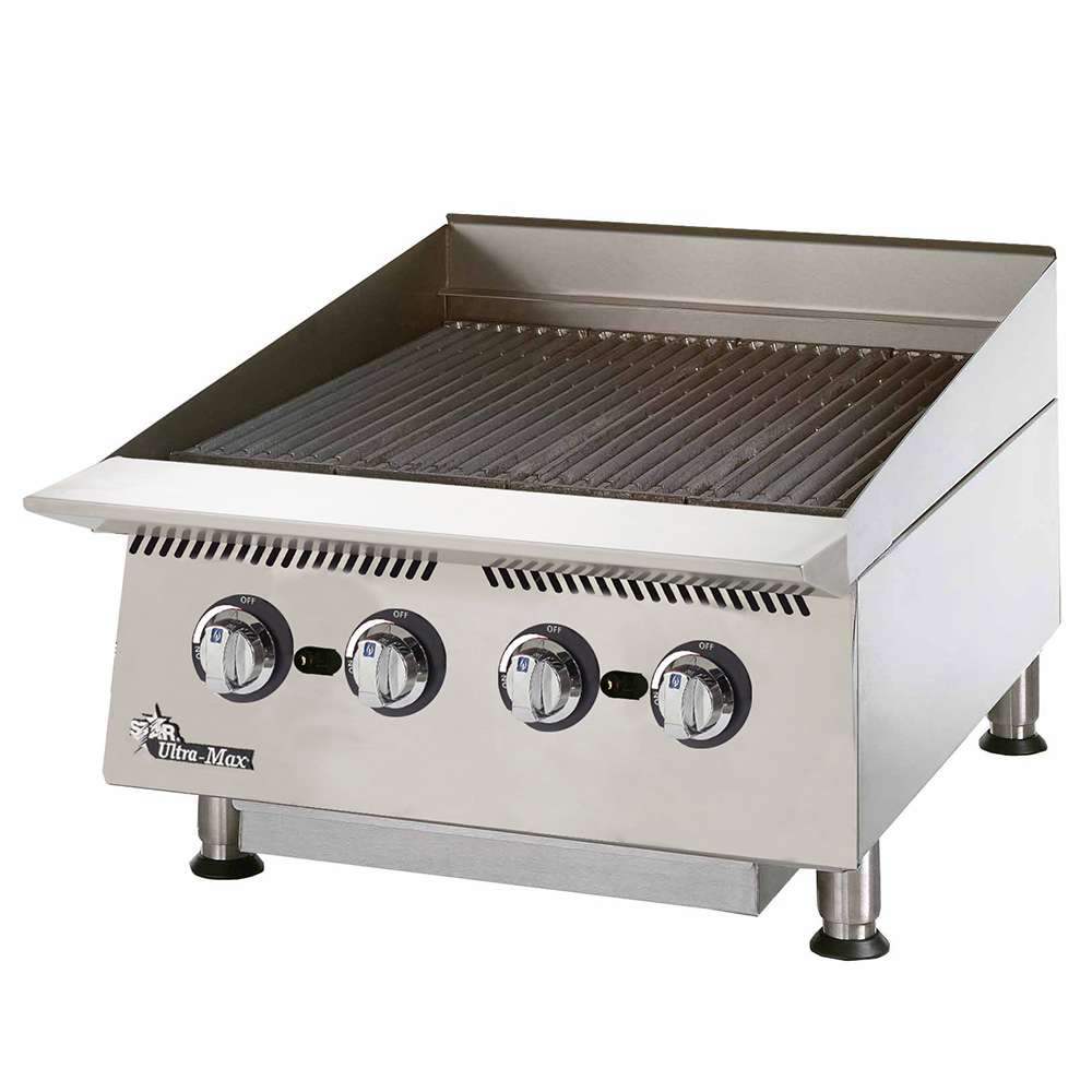 "Star 8024CB 24"" Gas Charbroiler w/ Cast Iron Grates - Manual Controls, NG"