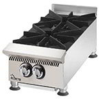 "Star 802HA 12"" Hotplate - 2-Burner, Manual Control, 60000-BTU, NG"