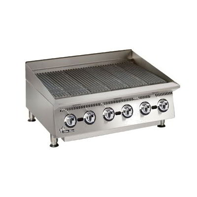 "Star 8036CBA 36"" Lava Rock Gas Charbroiler w/ Manual Controls"