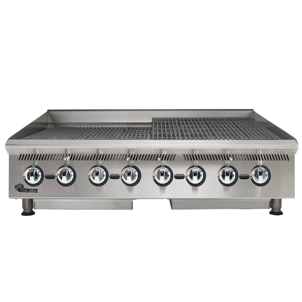 "Star 8048CBA 48"" Gas Charbroiler w/ Cast Iron Grates - Manual Controls, NG"