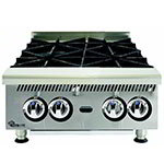 "Star 804HA 24"" Hotplate - 4-Burner, Manual Control, 120000-BTU, NG"