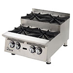 "Star 806HA-SU 36"" Step Up Hotplate - 6-Burners & Manual Controls, 180000-BTU, NG"