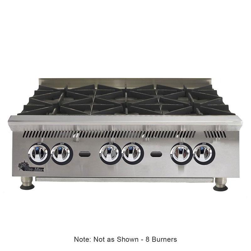 "Star 808HA 48"" Gas Hotplate w/ (8) Burners & Manual Controls"