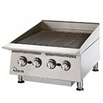 "Star 8124RCBB 24"" Gas Charbroiler w/ Manual Controls & Steel Radiants, 80000-BTU"