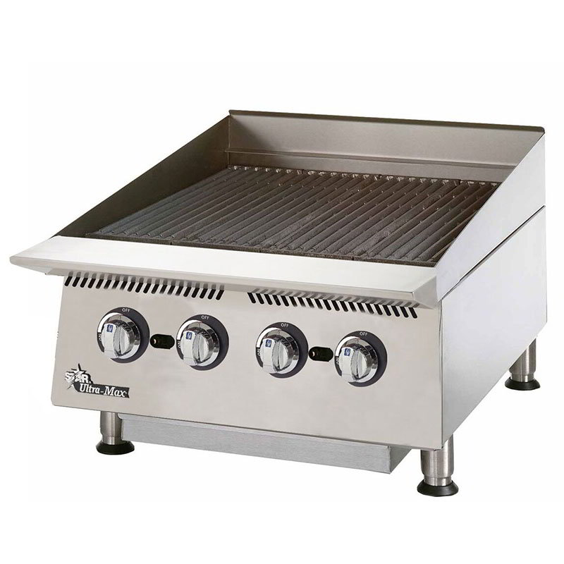 Star 8124RCBA 24-in Gas Charbroiler w/ Manual Controls & Steel Radiants, 80000-BTU