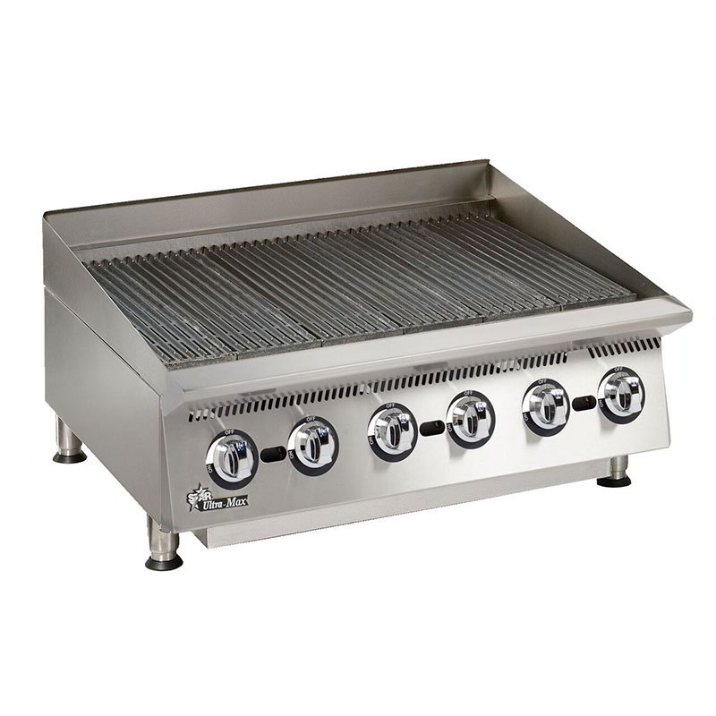 "Star 8136RCBA 36"" Charbroiler - Manual Controls, Steel Radiants, 120000-BTU, NG"