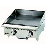 "Star 824MA 24"" Gas Griddle - Manual, 1"" Steel Plate, NG"