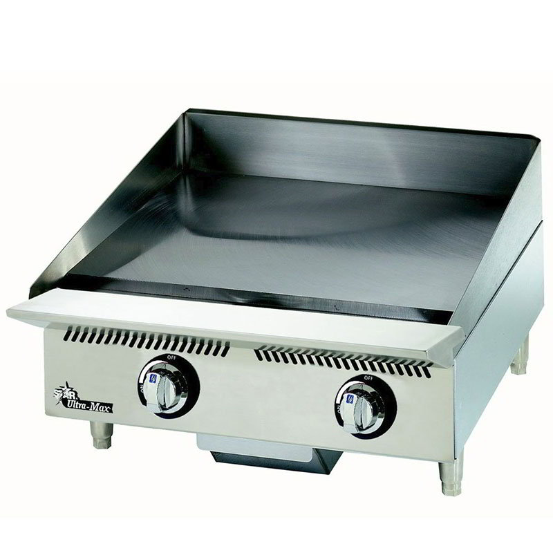 "Star 824MA 24"" Gas Griddle w/ 1"" Steel Plate & Manual Controls"