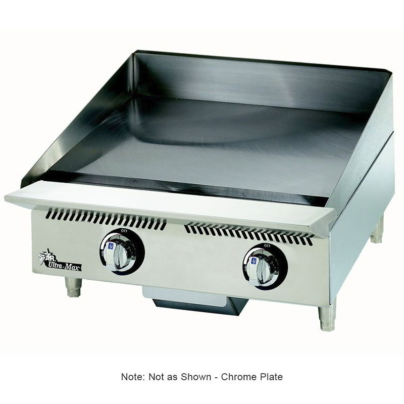 "Star 824TSCHSA 24"" Gas Griddle - Thermostatic, 1"" Chrome Plate, NG"