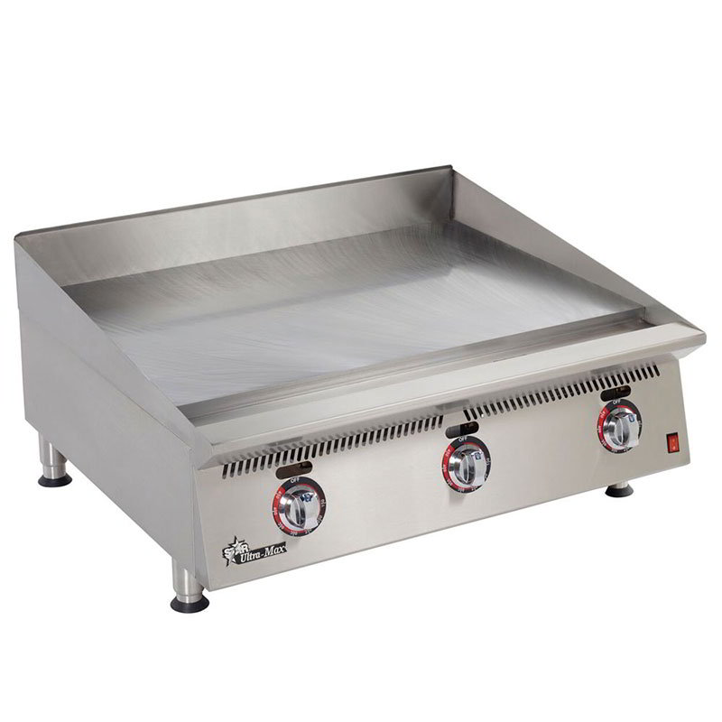 "Star 836TSA 36"" Griddle - 1"" Steel Plate & Snap Action Thermostat, NG"