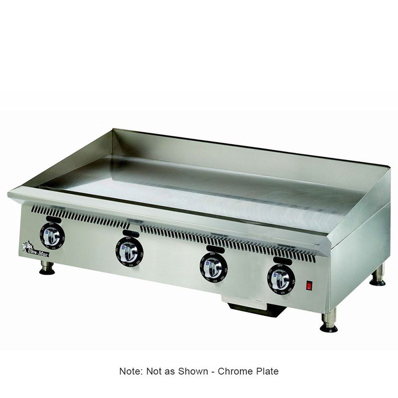 "Star 848TSCHS 48"" Gas Griddle - Thermostatic, 1"" Chrome Plate, NG"