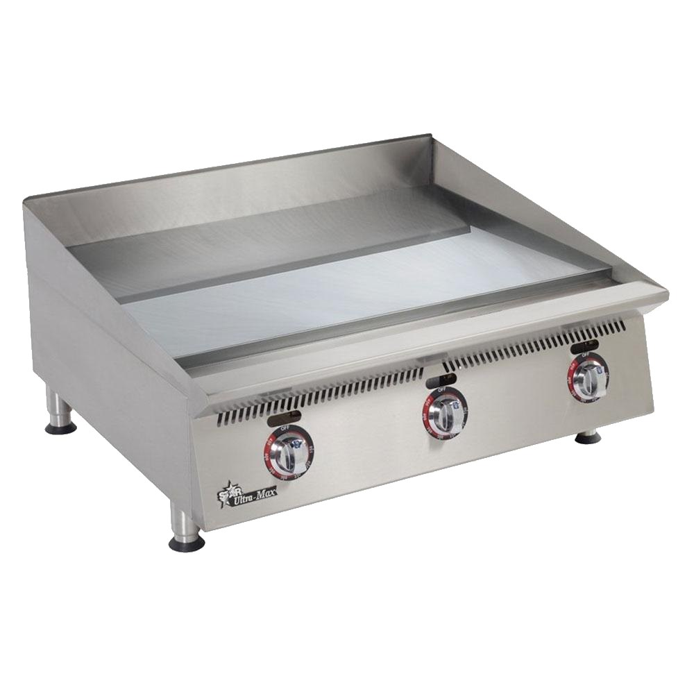 "Star 860TSCHSA 60"" Gas Griddle - Thermostatic, 1"" Chrome Plate, NG"