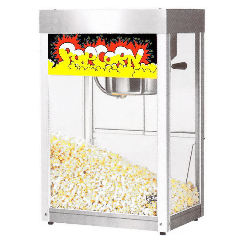 Star 86S Popcorn Popper, 8-oz Kettle, (170) 1-oz Servings