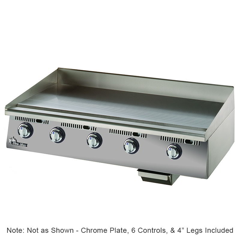 "Star 872TSCHSA 72"" Gas Griddle - Thermostatic, 1"" Chrome Plate"