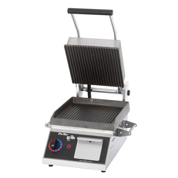 Star PGT7I Commercial Panini Press w/ Cast Iron Grooved Plates, 120v