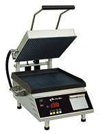 "Star Manufacturing CG14E 1201 Panini Grill w/ Grooved Plates & Thermostatic Control, 14x14"", 120v"
