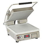 Star Manufacturing PGT14T Panini Grill w/ Timer, 14 x 14-in Surface, Grooved Aluminum Plate, 120v