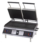 Star PGT28I Double Commercial Panini Press w/ Cast Iron Grooved Plates, 208v/1ph