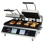 Star CG28IE Double Commercial Panini Press w/ Cast Iron Grooved Plates, 208-240v/1ph