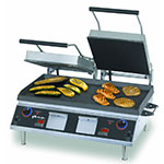Star PGT28IEGT Double Commercial Panini Press w/ Cast Iron Grooved Plates, 208-240v/1ph