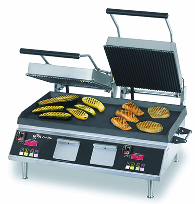 Star Manufacturing PGT28IEGT Double Panini Grill w/ Cast Iron Plates & Thermostatic Control, 208/240v
