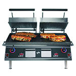 Star PGT28IGT Panini Grill w/ 14 x 28-in Grooved Top Cast Iron Plate, 208/240 V