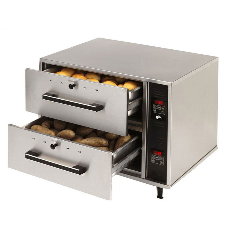 Star Manufacturing DW2 Warming Drawer, Standard, 2 Drawers, 120v