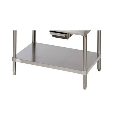 Star ESUM48SF Floor Model Stand, 47 x 24.25 x 22-in, w/ Bottom Shelf, Stainless