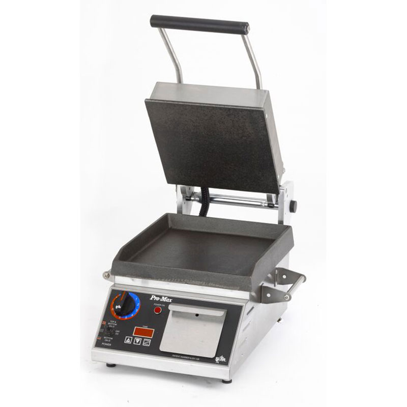 "Star Manufacturing PST14IT 2-Sided Grill w/ Timer, HD Smooth Iron Plates, 14 x14"" Surface"