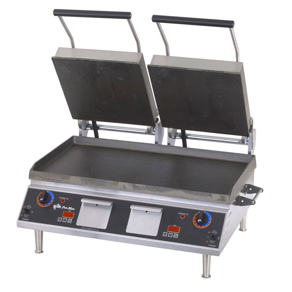 Star GR28IT Double Commercial Panini Press w/ Cast Iron Smooth Plates, 208-240v/1ph