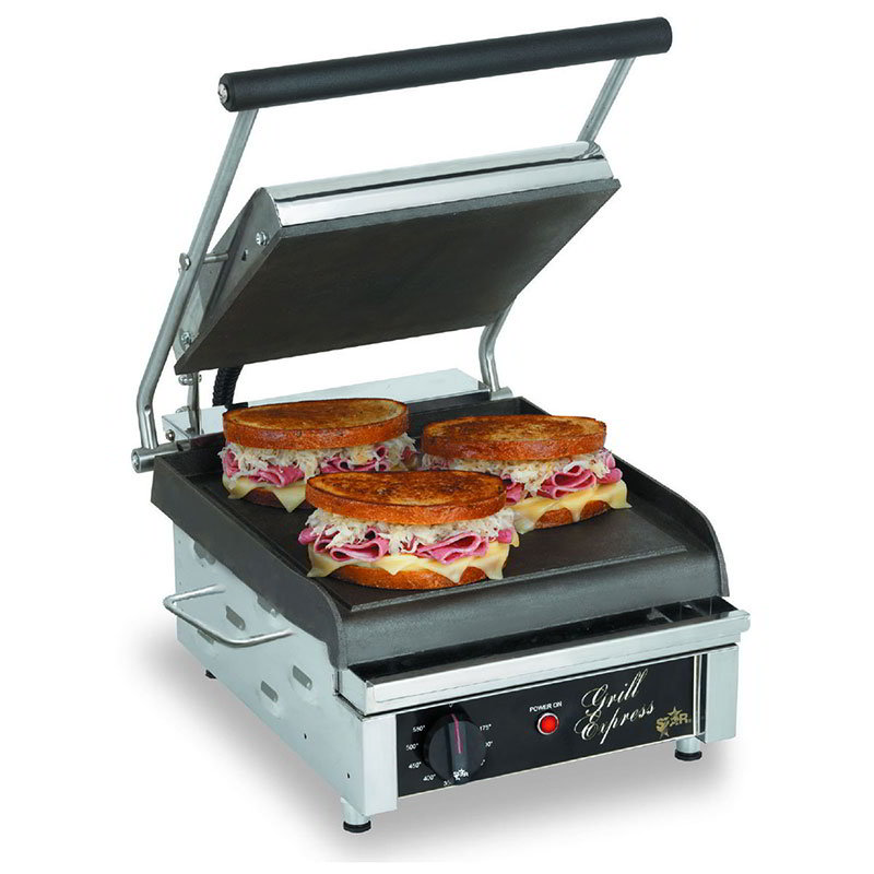 star gx10is commercial panini press w cast iron smooth. Black Bedroom Furniture Sets. Home Design Ideas
